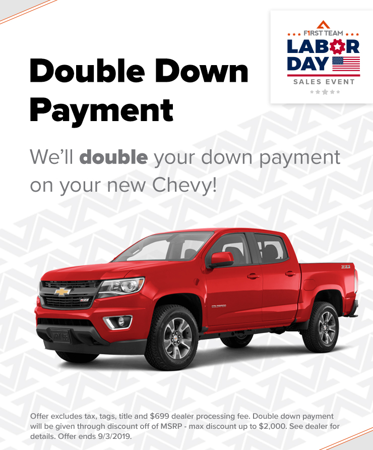 2019 Chevy Double Down Payment