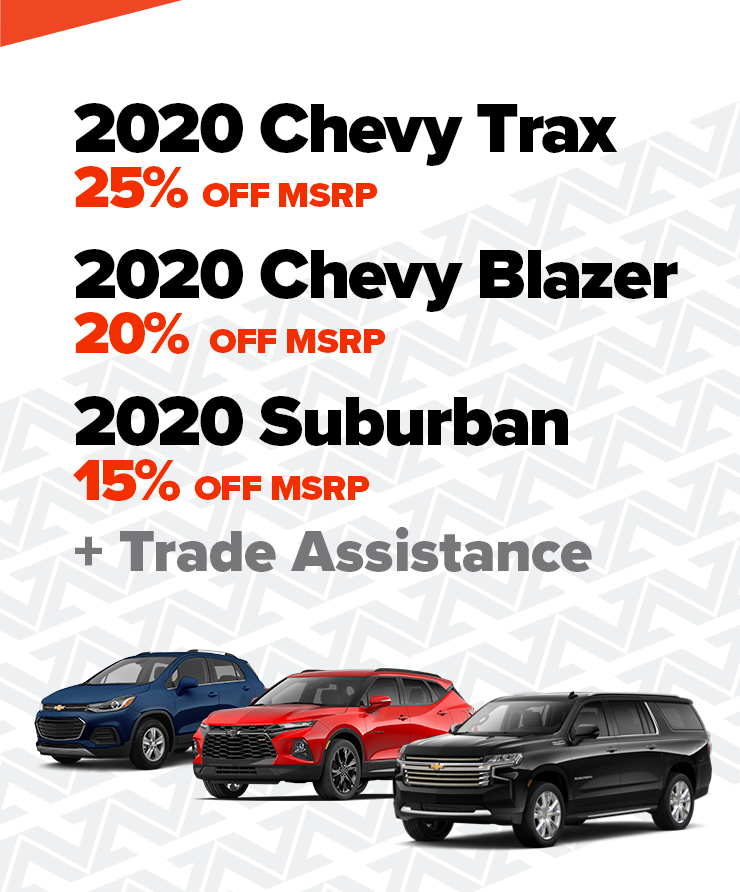Chevy Up To 25% OFF MSRP