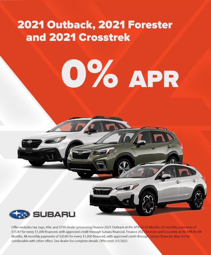 Subaru 0% APR