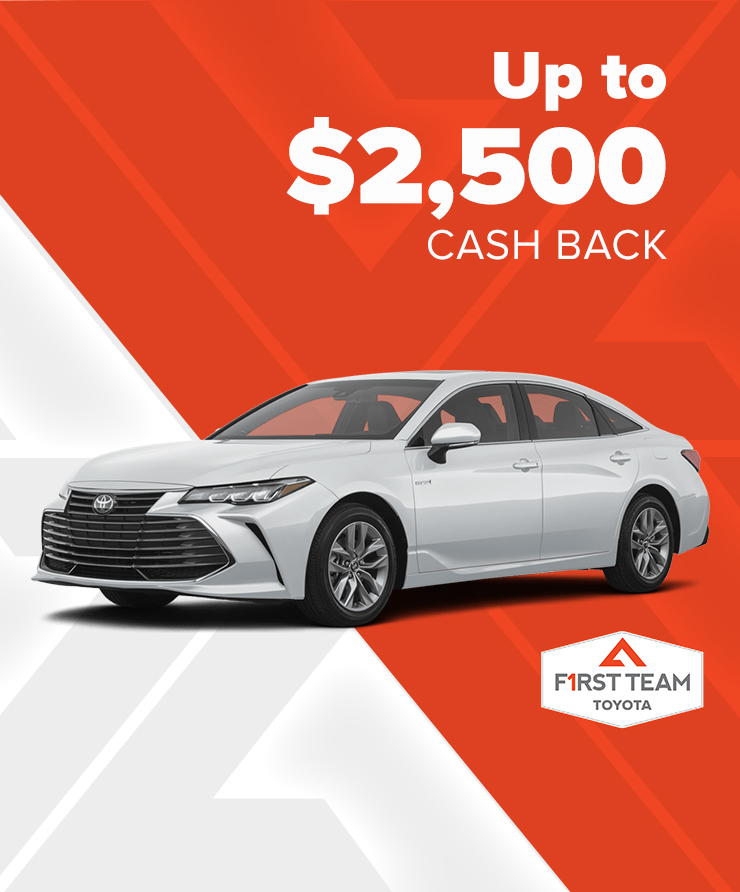 Toyota Up To $2,500 Cash Back