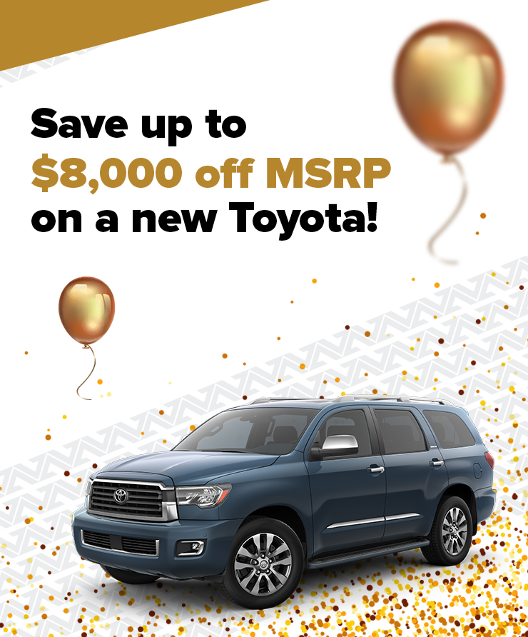 Up To $8K Off Toyota