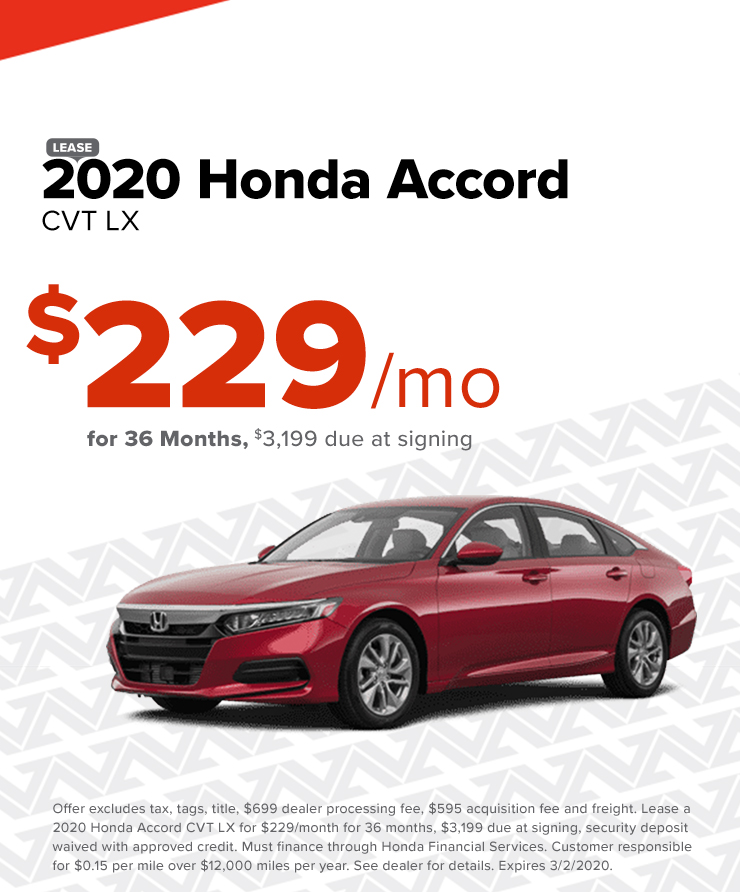Honda Accord $229/mo