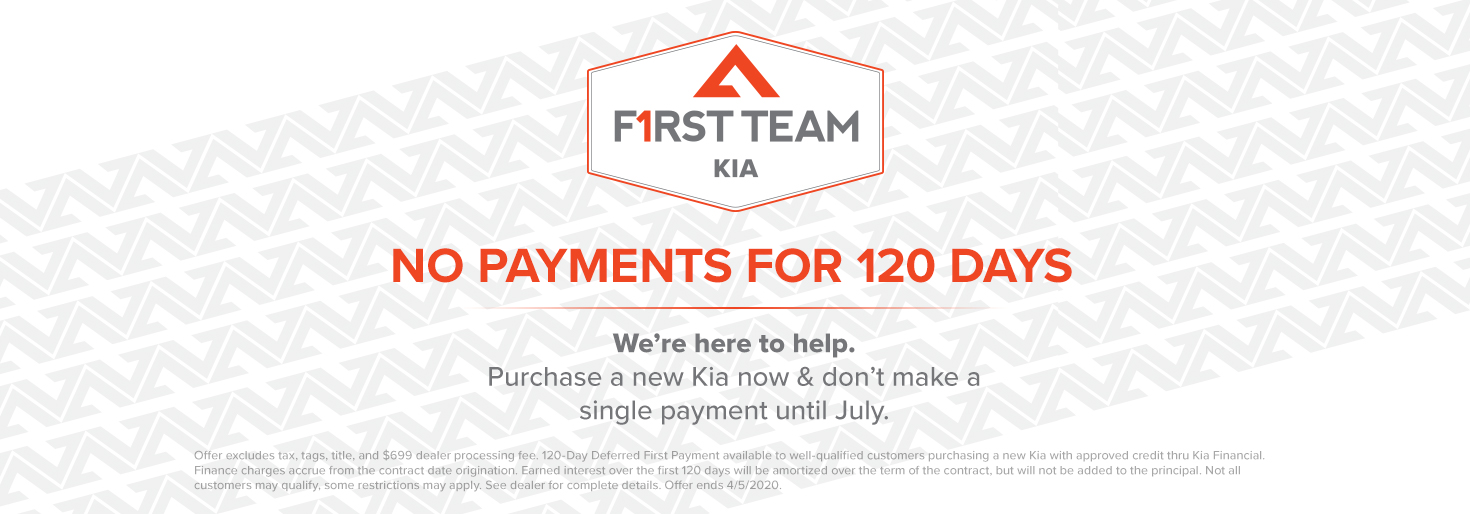 Kia No Payments for 120 Days