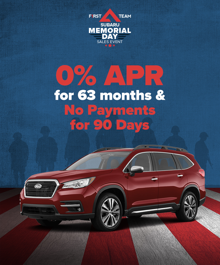 Subaru 0% APR for 63 Months AND No Payments for 90 Days