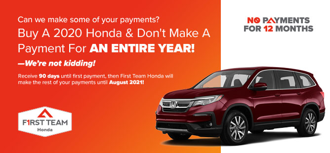 Buy A 2020 Honda & Don't Make A Payment For AN ENTIRE YEAR!!!