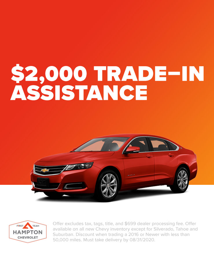 Chevy: $2,000 Trade–In Assistance