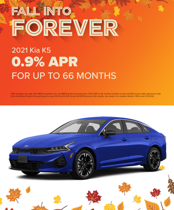 2021 Kia K5  0.9% APR for 66 Months