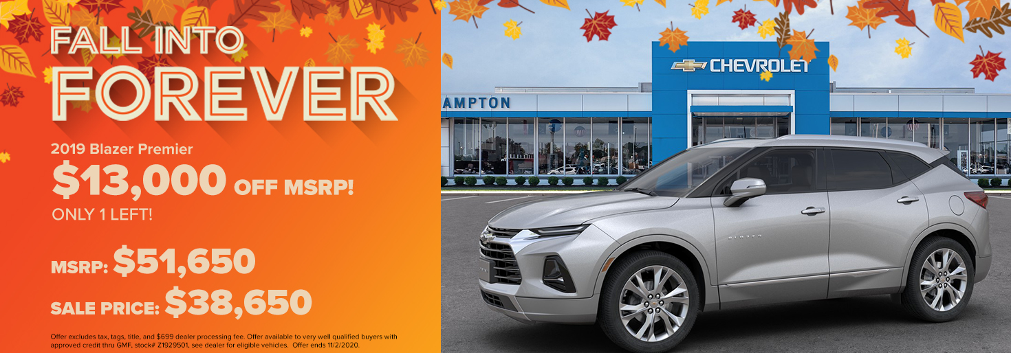 2019 Chevy Blazer Premier  $13,000 OFF MSRP! Only 1 left!
