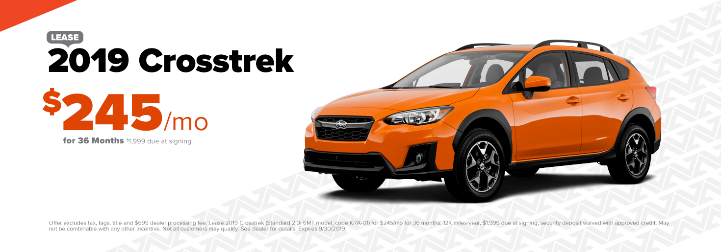 2019 Subaru Crosstrek: Lease $245/mo