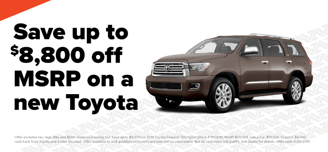 Up To $8,800 Off A New Toyota