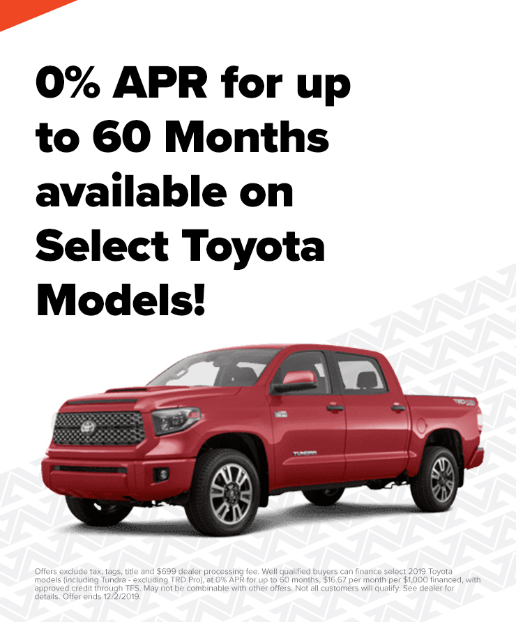0% APR on a New Toyota