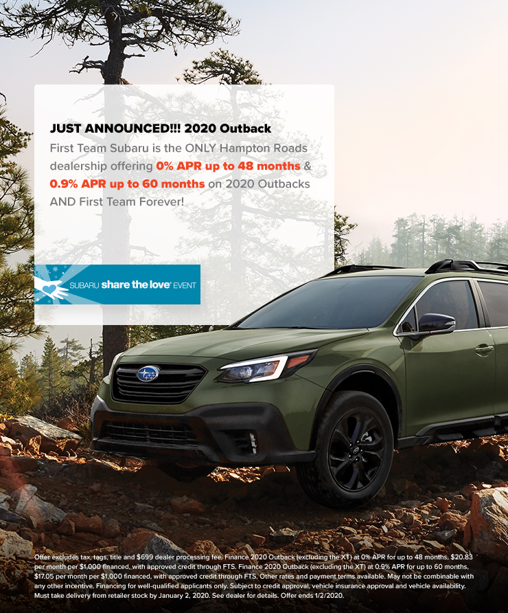 2020 Subaru Outback 0% APR