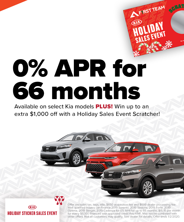 Kia 0% APR & Save With A Holiday Scratcher!