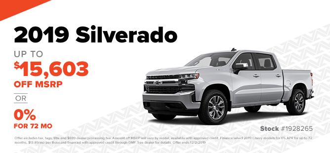 2019 Silverado: Over $15K Off