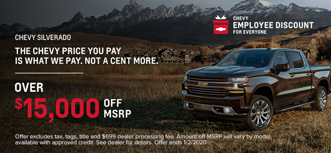 Chevy Silverado: Over $15,000 Off