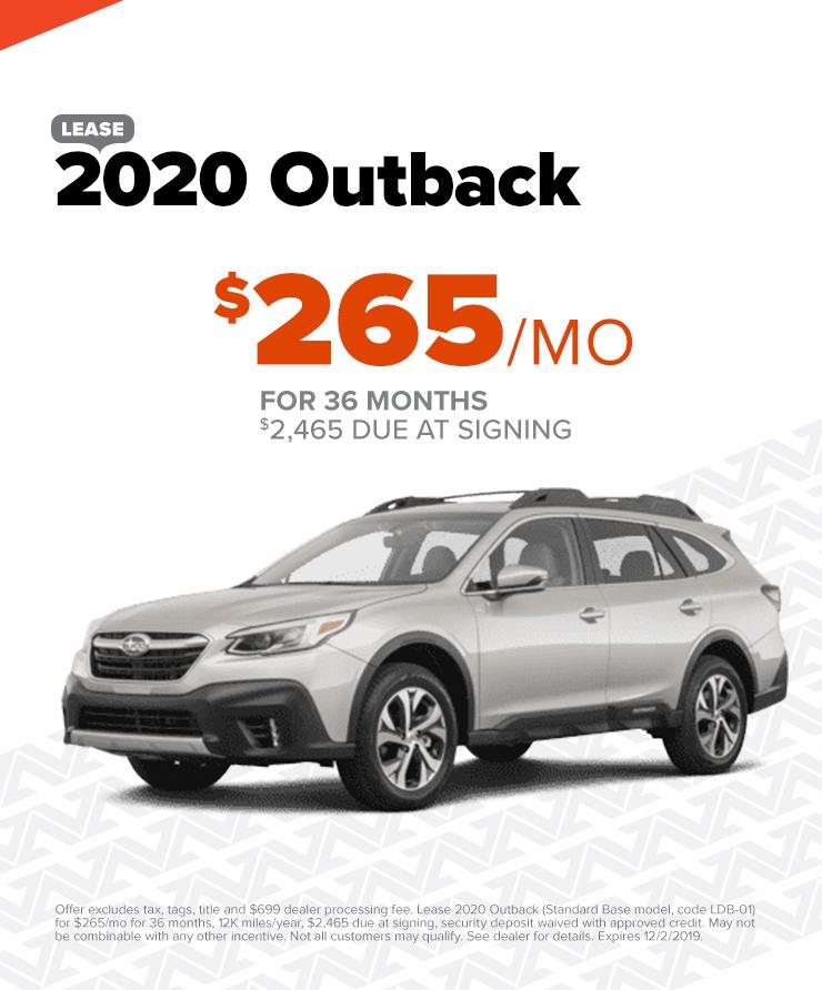 2020 Outbak: $265/mo